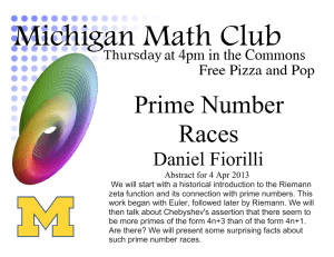 Prime Number Races