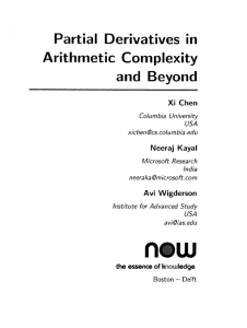 Partial derivatives in arithmetic complexity and beyond