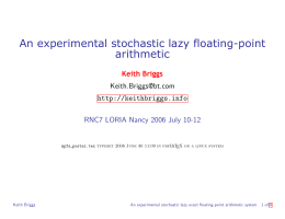 An experimental stochastic lazy floating-point arithmetic