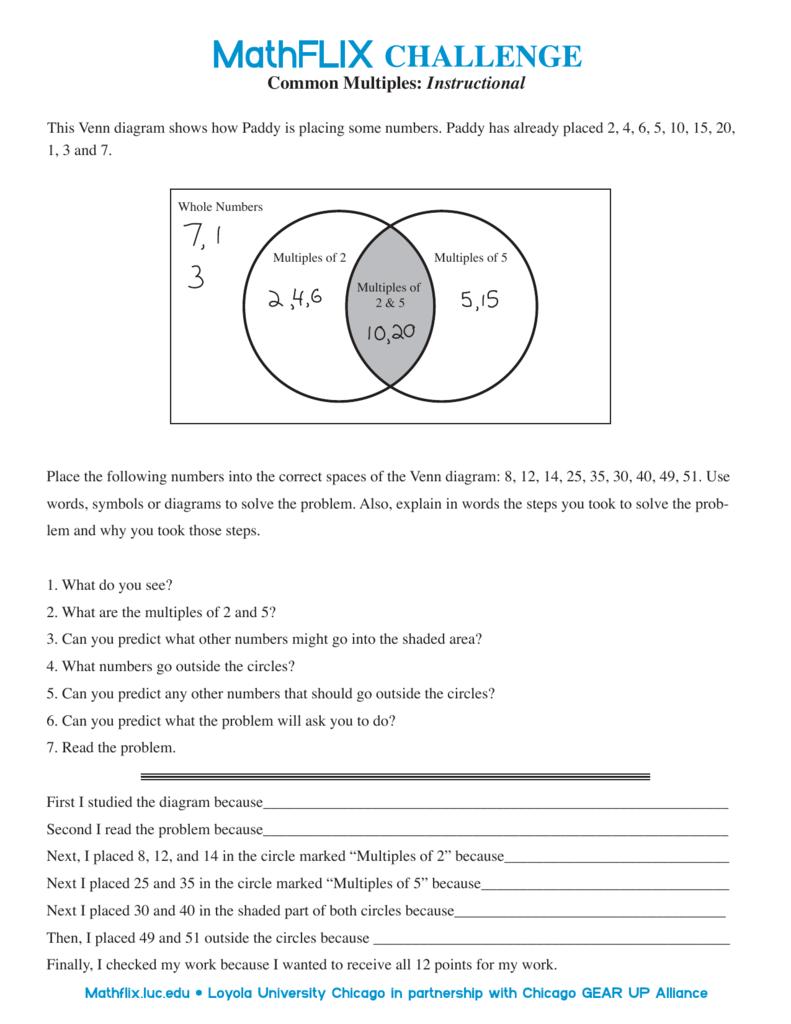 Venn diagram common multiples instructional pooptronica Gallery