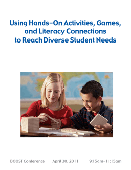 Using Hands-On Activities, Games, and Literacy Connections to