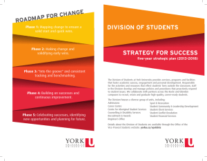 DIVISION OF STUDENTS STRATEGY FOR SUCCESS