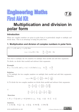 7.6 Multiplication and division in polar form