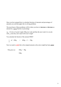 Fraction Percentage Increase