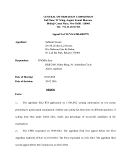 Decision No. CIC/VS/A/2014/003778 dated 29-02