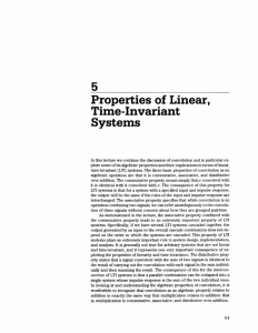 Properties of linear, time-invariant systems