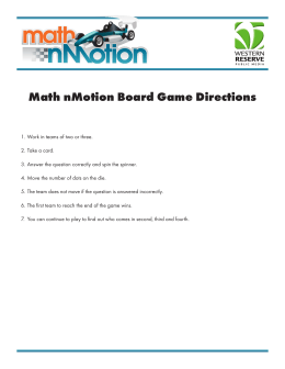 Math nMotion Board Game Directions