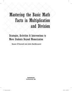 Mastering the Basic Math Facts in Multiplication and
