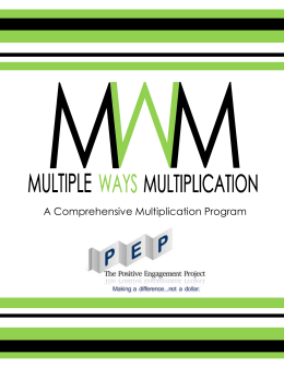 Multiple Ways Multiplication - THE POSITIVE ENGAGEMENT