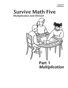 Part 1 Multiplication
