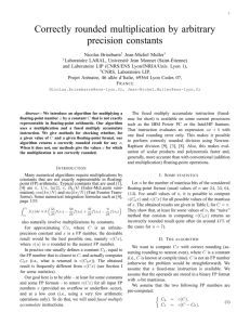Correctly rounded multiplication by arbitrary precision constants