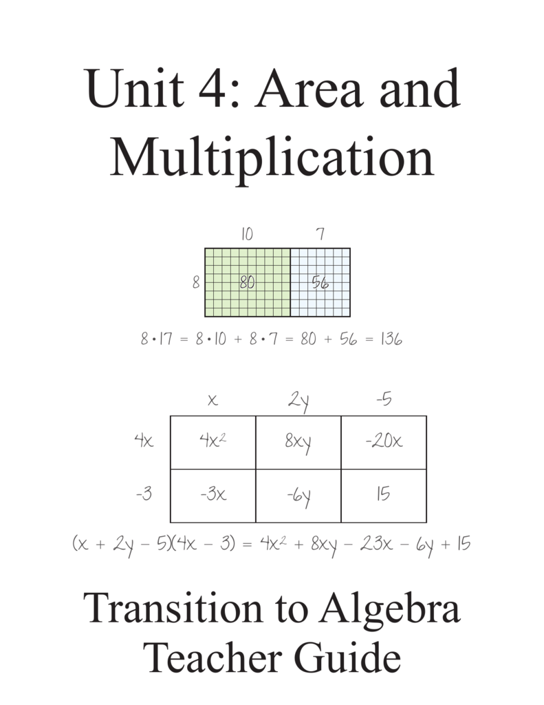 Unit 4 area and multiplication sciox Choice Image