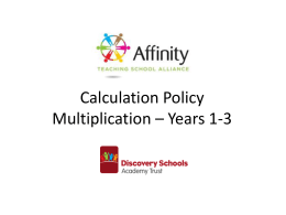 Calculation Policy Multiplication – Years 1-3