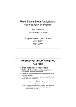 Inverse-variance Weighted Average