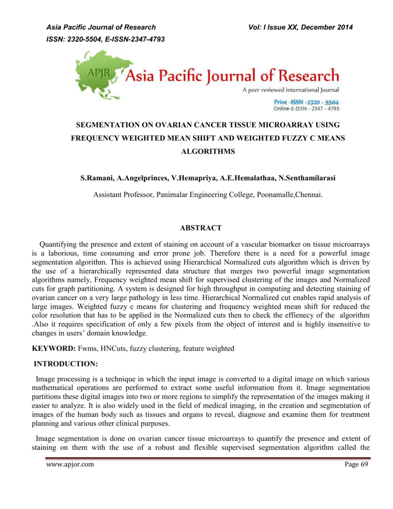Asia Pacific - Indian Journal of Research and Practice