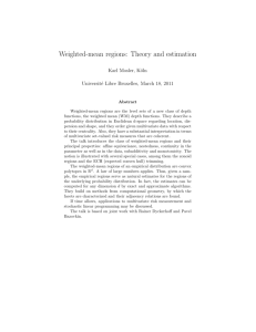 Weighted-mean regions: Theory and estimation