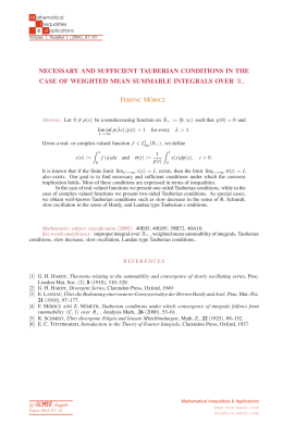 Necessary and sufficient Tauberian conditions in the case of