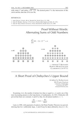 Proof Without Words: Alternating Sums of Odd Numbers A Short