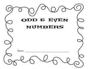 Odd & Even Numbers - The Curriculum Corner