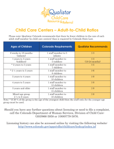 Child Care Centers – Adult-to-Child Ratios