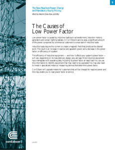 The Causes of Low Power Factor
