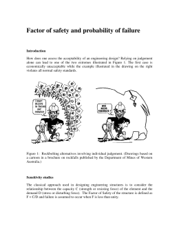 Factor of safety and probability of