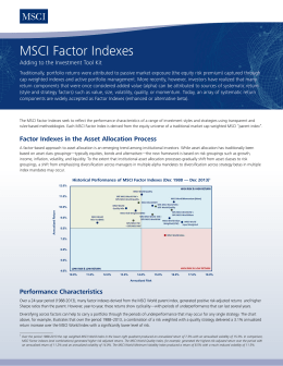 MSCI Factor Indexes