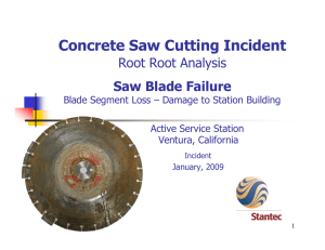 Concrete Saw Cutting Incident