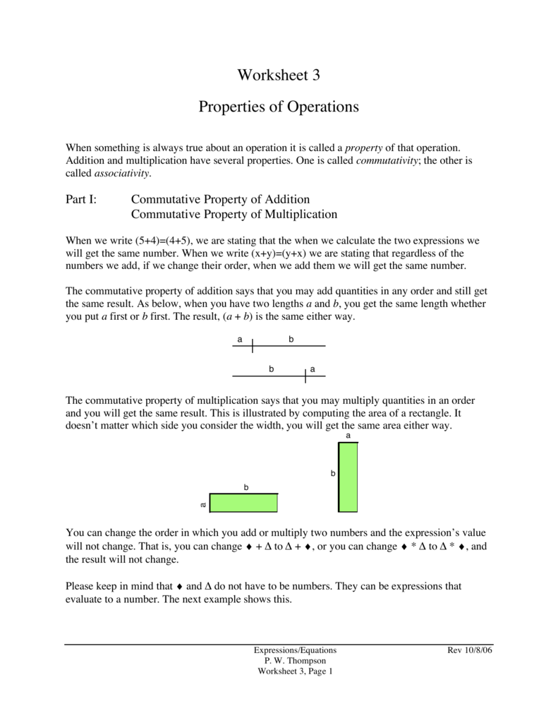 Worksheets Properties Of Operations Worksheet worksheet 3 properties of operations