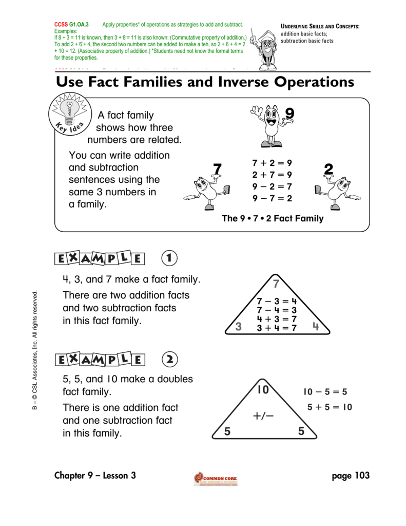 Use Fact Families And Inverse Operations
