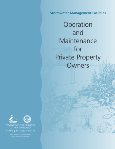 Stormwater Facility O & M Handbook For Homeowner Associations