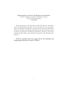 Approximation of and by the Riemann zeta!function Paul M. Gauthier