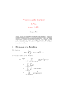What is a zeta function?