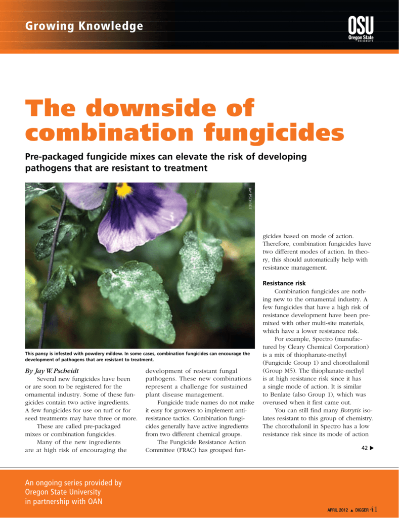 The downside of combination fungicides