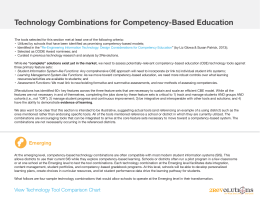 Technology Combinations for Competency