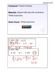 Dec 2 Fraction Review - Sign in to Horace Mann School