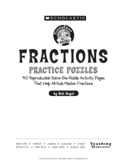 Fractions Puzzles