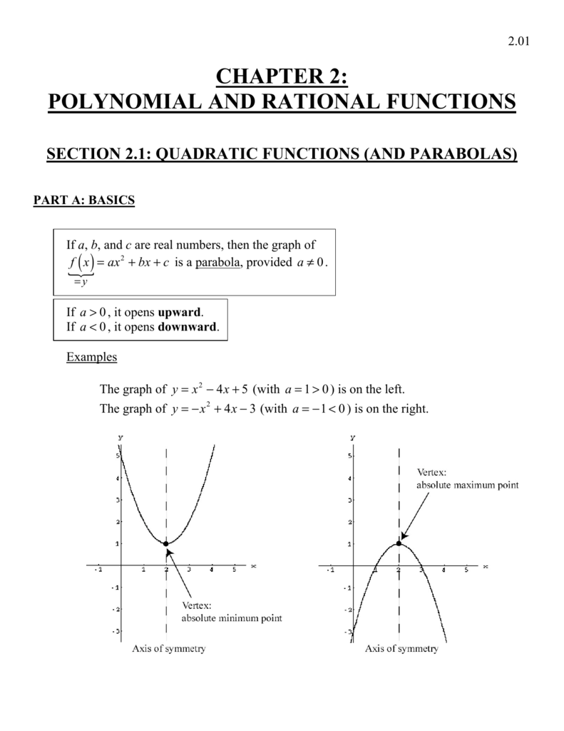 chapter 2: polynomial and rational functions
