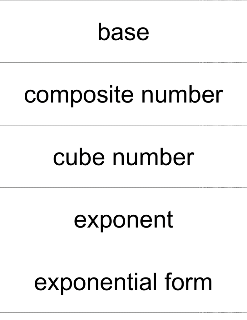 Base composite number cube number exponent exponential form falaconquin