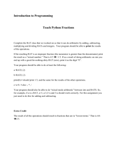 Introduction to Programming Teach Python Fractions