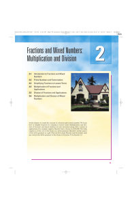 Fractions and Mixed Numbers: Multiplication and Division