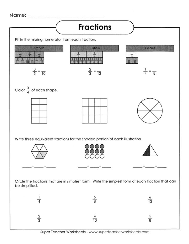 100 fraction shape worksheets color the fraction worksheet education com 8 simple. Black Bedroom Furniture Sets. Home Design Ideas
