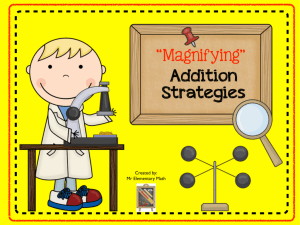 Magnifying Addition Strategies