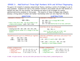 Add/Subtract Three Digit Numbers With and Without Regrouping