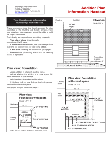 Addition Plan Information Handout