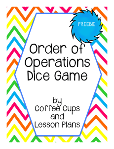 Order of Operations Dice Game Freebie.pptx