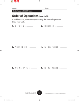 Operations and supply management order of operations page 1 of 2 fandeluxe Gallery