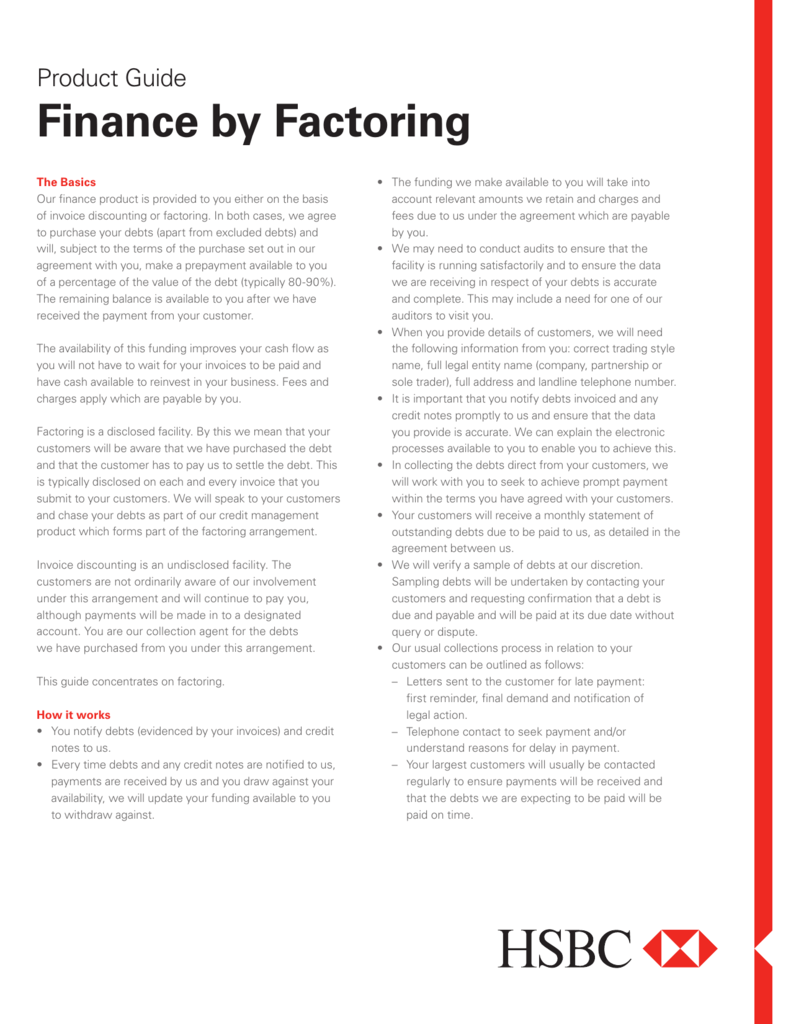 Finance by Factoring - Business Banking