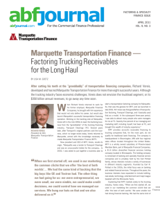 Factoring Trucking Receivables for the Long Haul