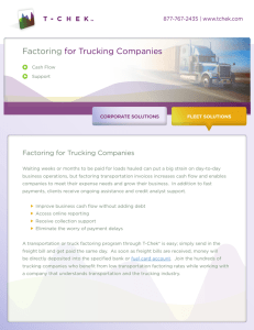 Factoring for Trucking Companies